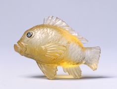 Goldfish, late 1800s-early 1900s, Fabergé, topaz, rose-cut diamond eyes set in gold