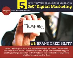 5 Powerful Ways to Build Your Brand with 360° Digital Marketing - 3). Brand Credibility
