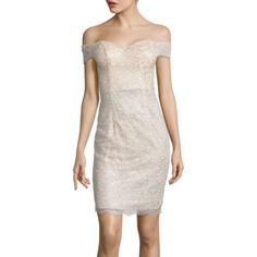 Bisou Bisou Off Shoulder Lace Bodycon Dress
