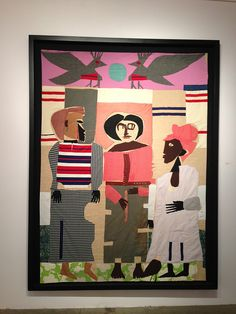 Romare Bearden fabric collage by hilpalny, via Flickr