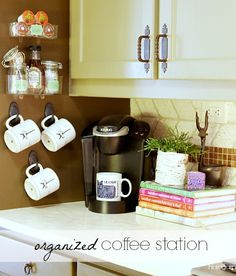 Hi Sugarplum | Make morning routines run smoother with an Organized Coffee Station