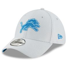 98cfe7eb1fa New Era Detroit Lions Gray 2018 NFL Training Camp Official 39THIRTY flex hat