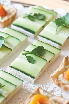 These cool and refreshing Cucumber Canapés are the ideal indulgence for your afternoon tea.