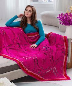 Best Free Crochet » Free Love My Valentine Throw Crochet Pattern from RedHeart.com