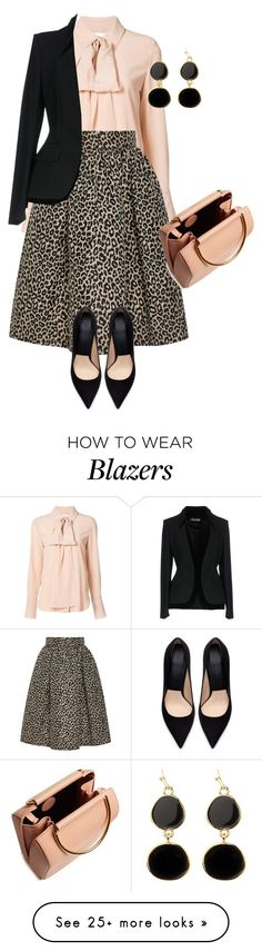 """outfit 7825"" by natalyag on Polyvore featuring Chloé, Zara, Adele Marie, Tom Ford and Roksanda"