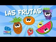 Fruits in Spanish for Children Elementary Spanish, Spanish Class, Teaching Spanish, How To Speak Spanish, Learn Spanish, Paper Fruit, English Vocabulary, Pre School, Kids Learning