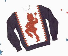 Drum Majorette for a Knitted Pull over Sweater by BlondiesSpot