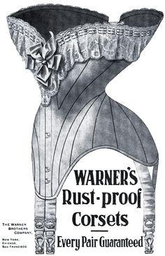 warners rust-proof corsets 1904