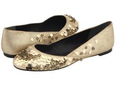 Juicy Couture Anita Flat (Platino Dust Metallic Suede, 7.5)
