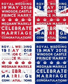 FREE printable posters bunting party invite Royal wedding Meghan and Harry 2018 Royal Tea Parties, Royal Party, Tea Party Wedding, Brunch Wedding, Royal Craft, Crown Party, Wedding Breakfast, Blue Party, Royal Weddings