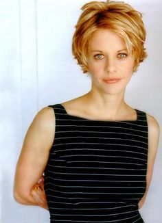 Haircuts Trends Meg Ryan Hairstyles 2011 Celebrity Hair Cuts Discovred by : Beaded & Co. Short Sassy Haircuts, Short Hairstyles For Thick Hair, Haircuts For Fine Hair, Short Hair Cuts, Short Hair Styles, Layered Hairstyles, Hairstyle Short, Pixie Cuts, Decent Hairstyle