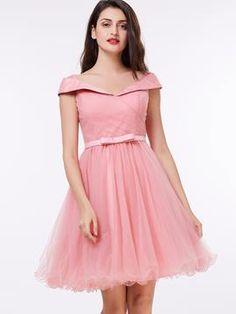 Ericdress Pretty Scoop Pearls Appliques Short Wedding Dress 11398991 - EricDress.com
