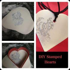DIY Stamped Hearts
