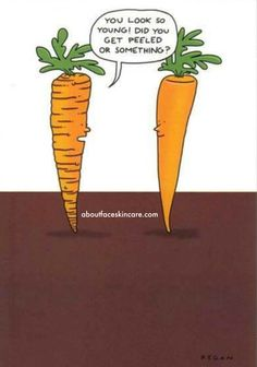 Chemical peels can make you (or a bunch of carrots) look instantly revitalized and refreshed.