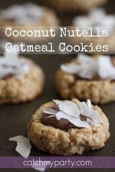 Coconut And Nutella Recipes No Bake Treats, Yummy Treats, Sweet Treats, Yummy Food, Delicious Cookies, Best Nutella Recipes, Coconut Recipes, Oatmeal Cookie Recipes, Oatmeal Cookies