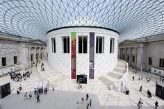 the British Museum - love the modern skylights with surrounding traditional architecture similar to DC art museum
