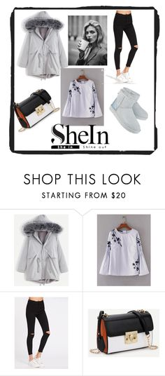 """SHEIN II"" by lugavicjasmina ❤ liked on Polyvore featuring WithChic, UGG and Anja"