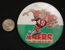 1988 San Francisco 49ers NFL Vintage Hat Lapel Pinback Button #BB1651