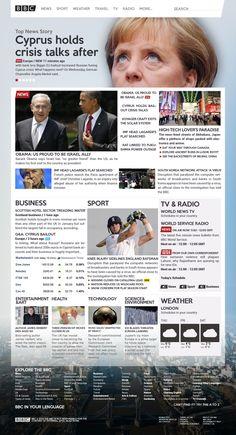 BBC Website Concept by Alejo Malia, via Behance