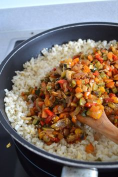 eat rice with vegetable healthy - Rice Recipes Vegan, Healthy Salad Recipes, Healthy Foods To Eat, Vegetarian Recipes, Healthy Eating, Vegetarian Side Dishes, Vegetable Rice, Health Dinner, Easy Healthy Breakfast