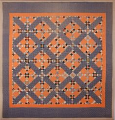 herminehesse:  Railroad Cross c. 1880, Ohio Holmes County - Mennonite Quilt