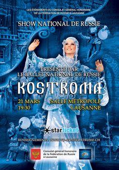 Le Ballet national de Russie  «Kostroma» | Avasta Lausanne, Ballet, Portfolio Design, Flyers, Marie, Movie Posters, Russia, Portfolio Design Layouts, Ruffles