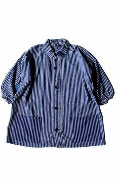 German vintage stripe smock shirt/Fisherman by SASAKIYOHINTEN #Etsyworkwearteam #mensfashion