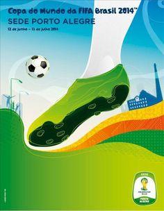 Cartaz sede Porto Alegre - Copa 2014