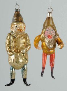 Two Rare German Figural Christmas Ornaments.