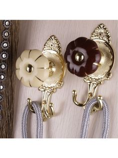2 Colors QYM68 Round Pumpkin Curtain Tieback Holdbacks - Pair | Cheery Curtains: Ready Made and Custom Made Curtains For Less