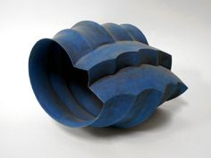 Thrown and slabbed ceramics: Blue Shape I Wouter Dam, 2000 (via Frank Lloyd gallery) Artist's website: www.wouterdam.nl