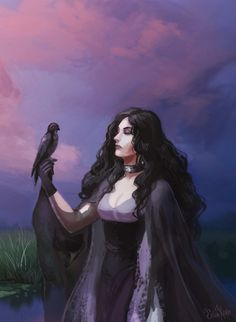 Yennefer and the bird by Erika-Xero.deviantart.com on @DeviantArt