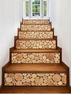 Wooden Printed Removable Stair Stickers- Cheapest and Latest women & men . Stair Stickers, Floor Stickers, Door Design, House Design, Wood Online, Stair Makeover, Wood Staircase, Cheap Vinyl, Stair Decor