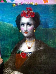 My daughter art work for school...Mona Kahlo
