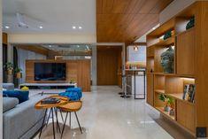 Contemporary Interior, Luxury Interior, Home Interior Design, Apartment Interior, Apartment Design, Living Room Designs India, Tv Wall Decor, Wall Decorations, Brick Cladding