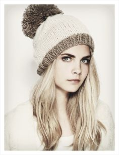 Cara Delevigne. She makes me love my eyebrows. She's gorgeous.