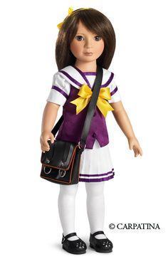Kohanna ~ lovely 18 inch doll in school outfit and bag. Made by Carpatina