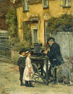 The Knifegrinder ~James Charles~ English Painter 1851-1906