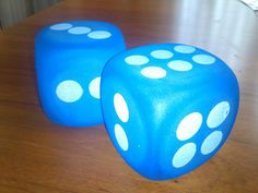 Extra large dice for large motor and math skill