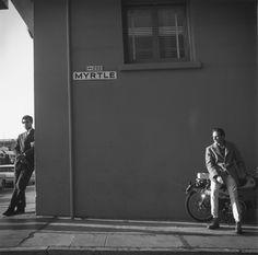 Two men on Myrtle Street, San Francisco, 1964 - - - photo Arthur Tress Oscar Wilde, Arthur Tress, Season Of The Witch, Moving To Paris, Magic Realism, Film School, World Cities, Two Men, Photo Journal