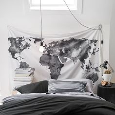 Black galaxy world map print wall tapestry tapestry online wall world map tapestry pbteen gumiabroncs Images