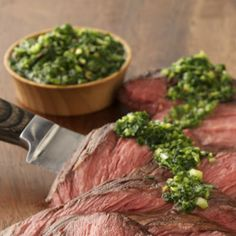 Fresh herbs and garlic in a tangy vinaigrette are an exquisite compliment to the rich grilled flavor of steak. Perfection on your plate and your palate.