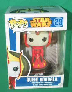 Funko POP Star Wars QUEEN AMIDALA #29 Vinyl Figure Rare Retired w Free Protector