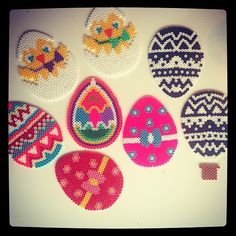 Easter eggs hama perler by bettie72