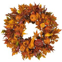 Celebrate the beauty of fall with this unique autumn wreath.