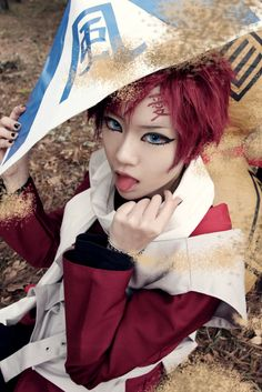 There is something I like in this cosplay even though it's not perfect. I mean I prefer a little feminine Gaara so maybe that why *^*