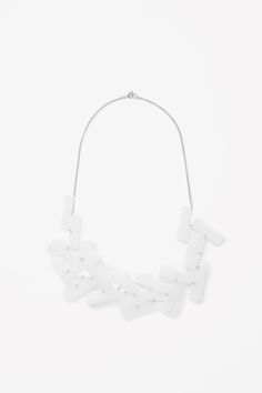 Set on a fine silver-coloured chain, this necklace has rectangular-shaped perspex beads. It is a secured with a spring clasp fastening. Jewelry Accessories, Women Jewelry, Geometric Shapes, Jewelry Collection, Jewelery, Beaded Necklace, Cos, Beads, Silver