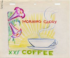 Citation: Morning Glory coffee advertisement design, 194-?. Douglas Leigh papers, Archives of American Art, Smithsonian Institution.
