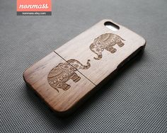 Wood iPhone 5 case  Elephant iPhone 5S case  Cute by nonmass, $25.00