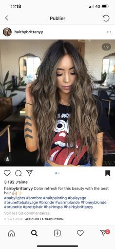 Black Coffee Hair With Ombre Highlights - 10 Cool Ideas of Coffee Brown Hair Color - The Trending Hairstyle Sandy Hair Color, Hair Color Dark, Brown Hair Colors, Brown Hair With Highlights, Brown Blonde Hair, Light Brown Hair, Sandy Brown Hair, Dark Brown, Coffee Brown Hair